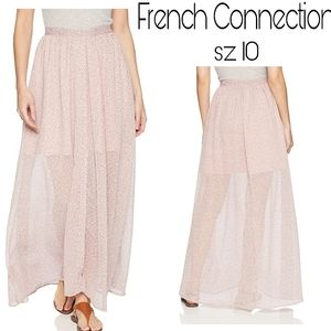 "French Connection ""Teagown Multi"" maxi skirt Sz 10"
